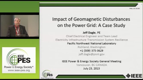 Impact of Geomagnetic Disturbance on the Power Grid: A Case Study (Video)