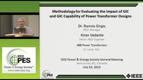 Methodology for Evaluating the impace of GIC and GIC Capability of Power Transformer Designs (Video)