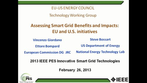 EU-US Energy Council Technology Working Group (Video)