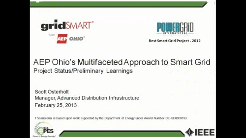 AEP Ohio's Mulitfaceted Approach to Smart Grid (Video)