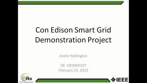 Con Edison Smart Grid Demonstration Project (Video)