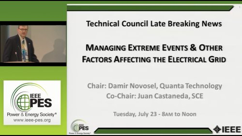 Managing Extreme Events & Other Factors Affecting the Electrical Grid (Video)
