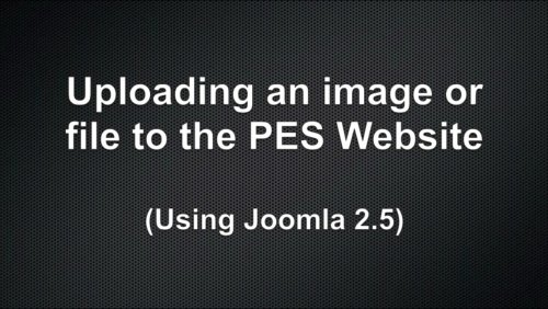 Uploading an image or file to the PES website (Video)