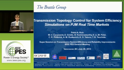 Transmission Topology Control for System Efficiency Simulations on PJM Real Time Markets (Video)