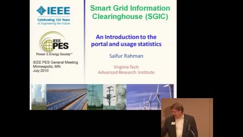Smart Grid Information Clearinghouse (SGIC) An Introduction to the portal and usage statistics (Video)
