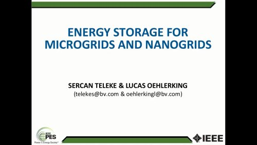 Energy Storage for Microgrids and Nanogrids (Webinar)