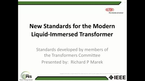 New Standards for the Modern Liquid-Immersed Transformer (Webinar)