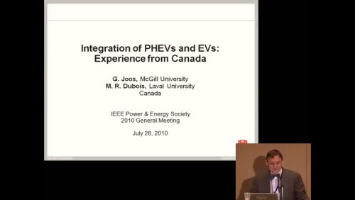 Integration of PHEVs and Evs: Experience from Canada (Video)