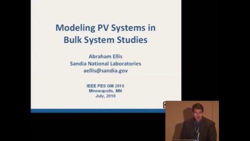 Modelling PV Systems in Bulk System Studies (Video)