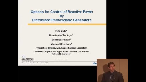 Options for Control of Reactive Power by Distributed Photovoltaic Generators (Video)