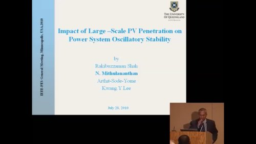 Impact of Large - Scale PV Penetration on Power System Oscillatory Stability (Video)