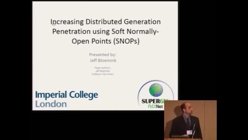 Increasing Distributed Generation Penetration using Soft Normally - Open Points (SNOPs) (Video)