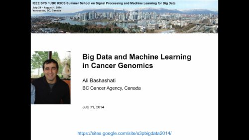 Big Data and Machine Learning in Cancer Genomics AB