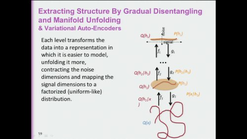 Extracting Structure By Gradual Disentangling and Manifold Unfolding & Variational Auto-Encoders