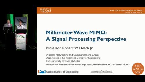 Millimeter Wave MIMO: A Signal Processing Perspective
