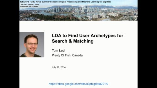 LDA to Find User Archetypes for Search & Matching