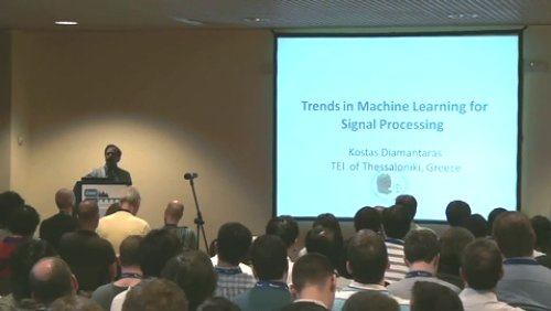 ICASSP 2011 Trends in Machine Learning for Signal Processing
