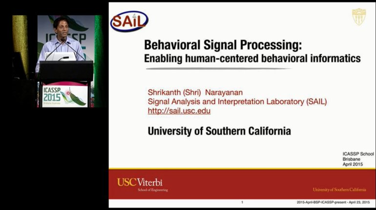Behavioral Signal Processing: Enabling Human-Centered Behavioral Informatics