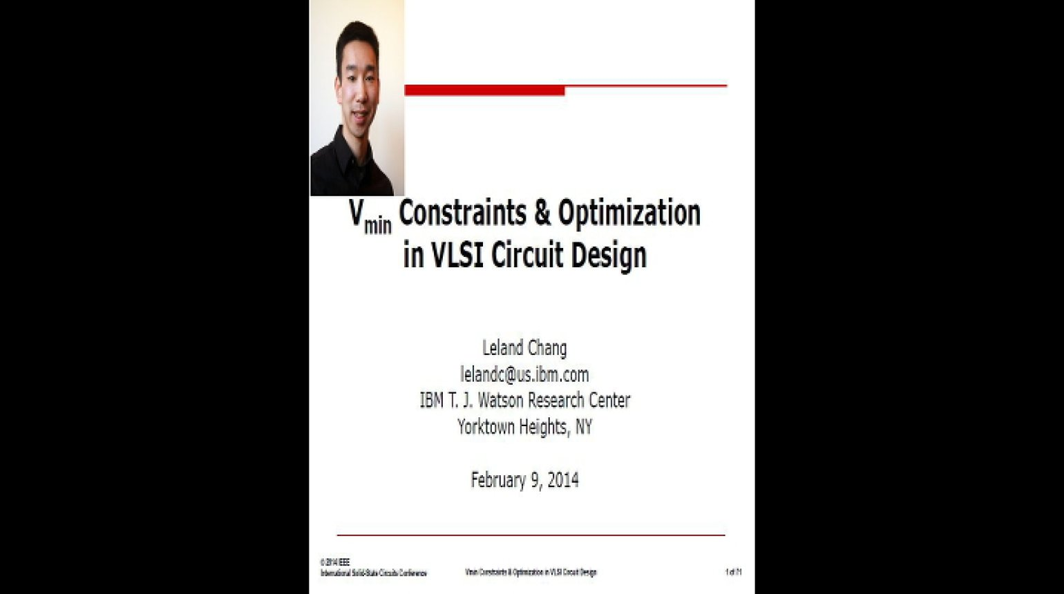Vmin Constraints and Optimization in VLSI Cicuit Design Video