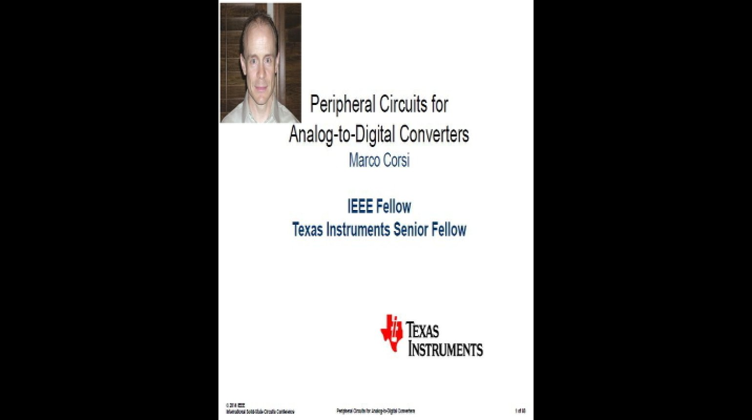 Peripheral Circuits for Analog-to-Digital Converters Video