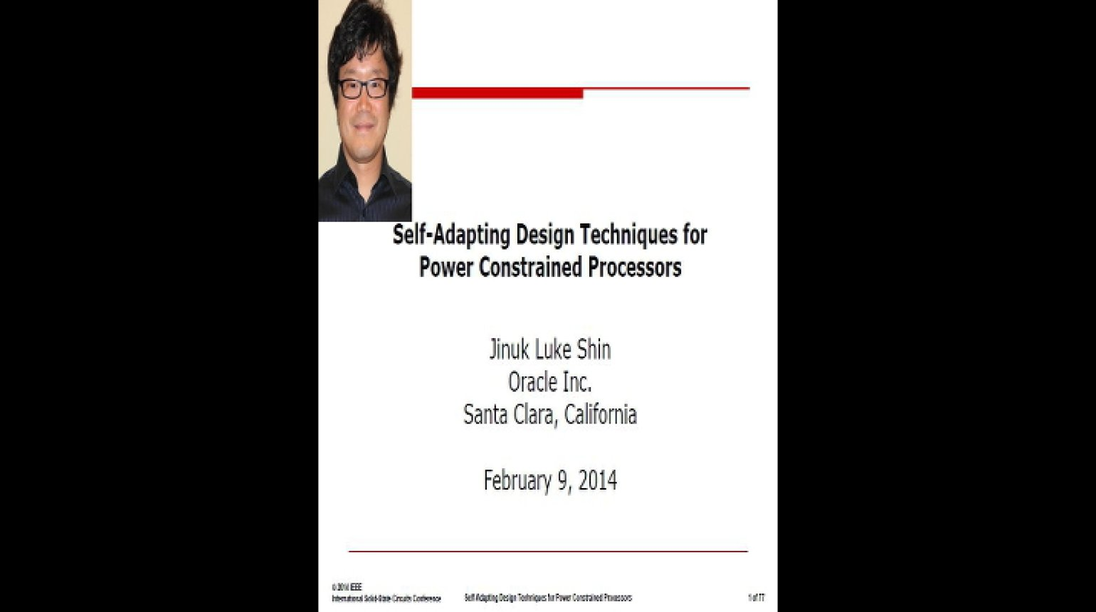 Self-Adapting Design Techniques for Power Constrained Processors Video