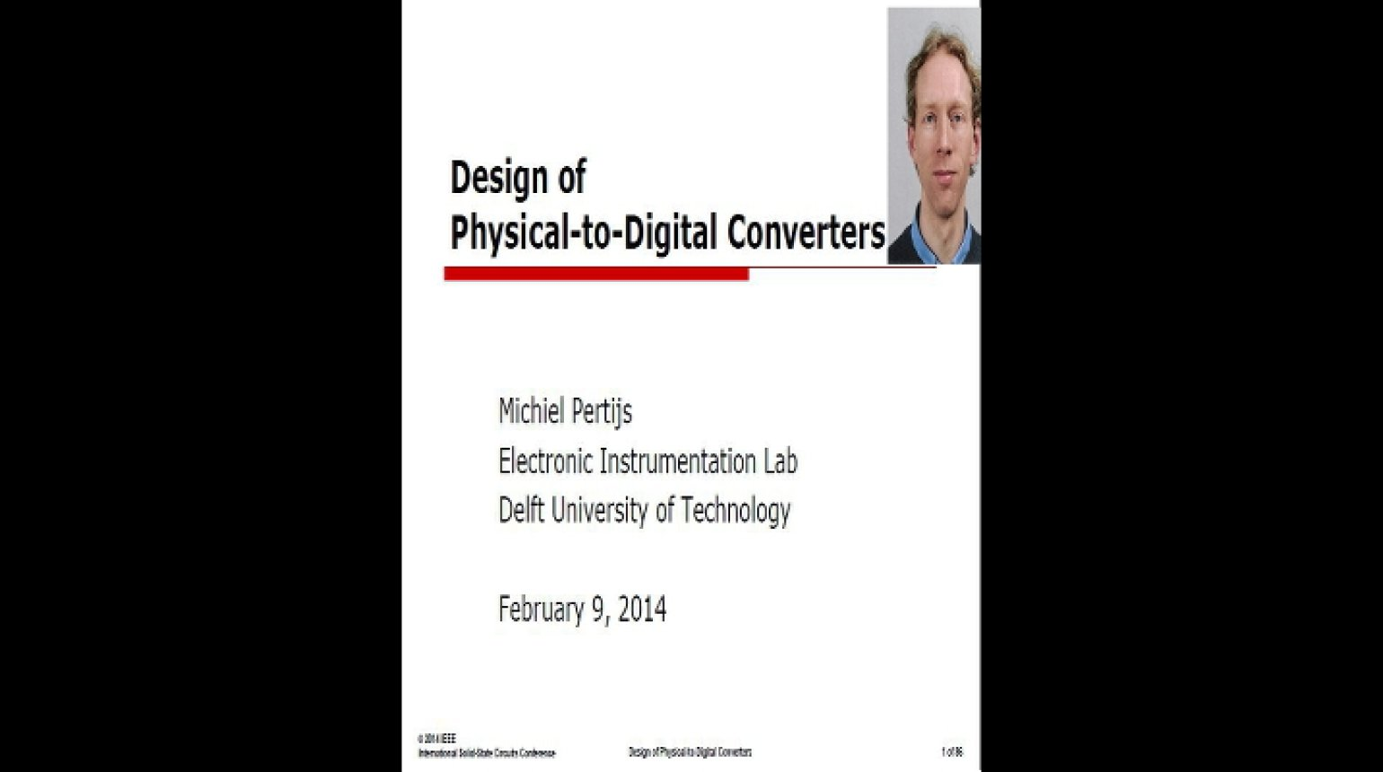 Design of Physical-to-Digital Converters Video