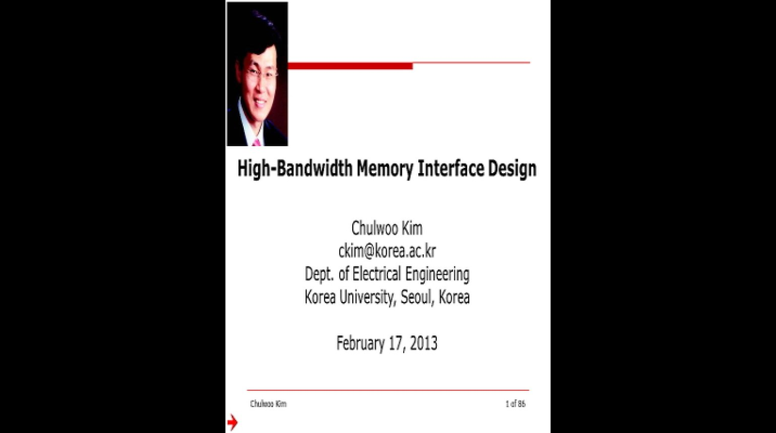 High Bandwidth Memory Interface Design Video