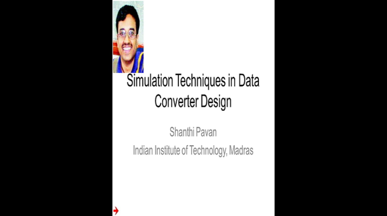 Simulation Techniques for Data Converter Design Video