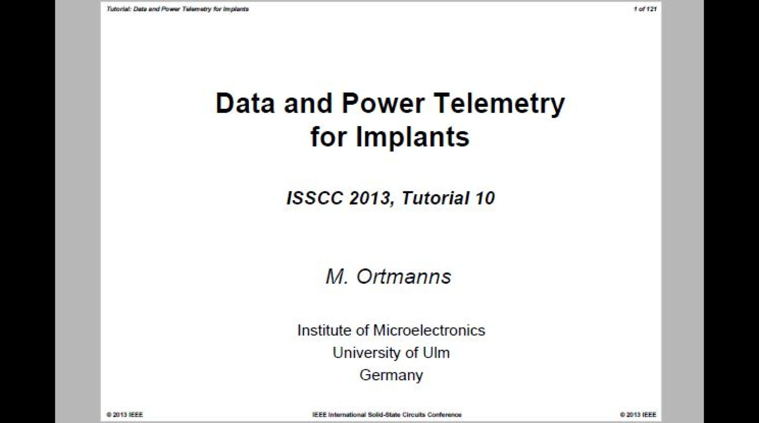 Data and Power Telemetry for Implants Video