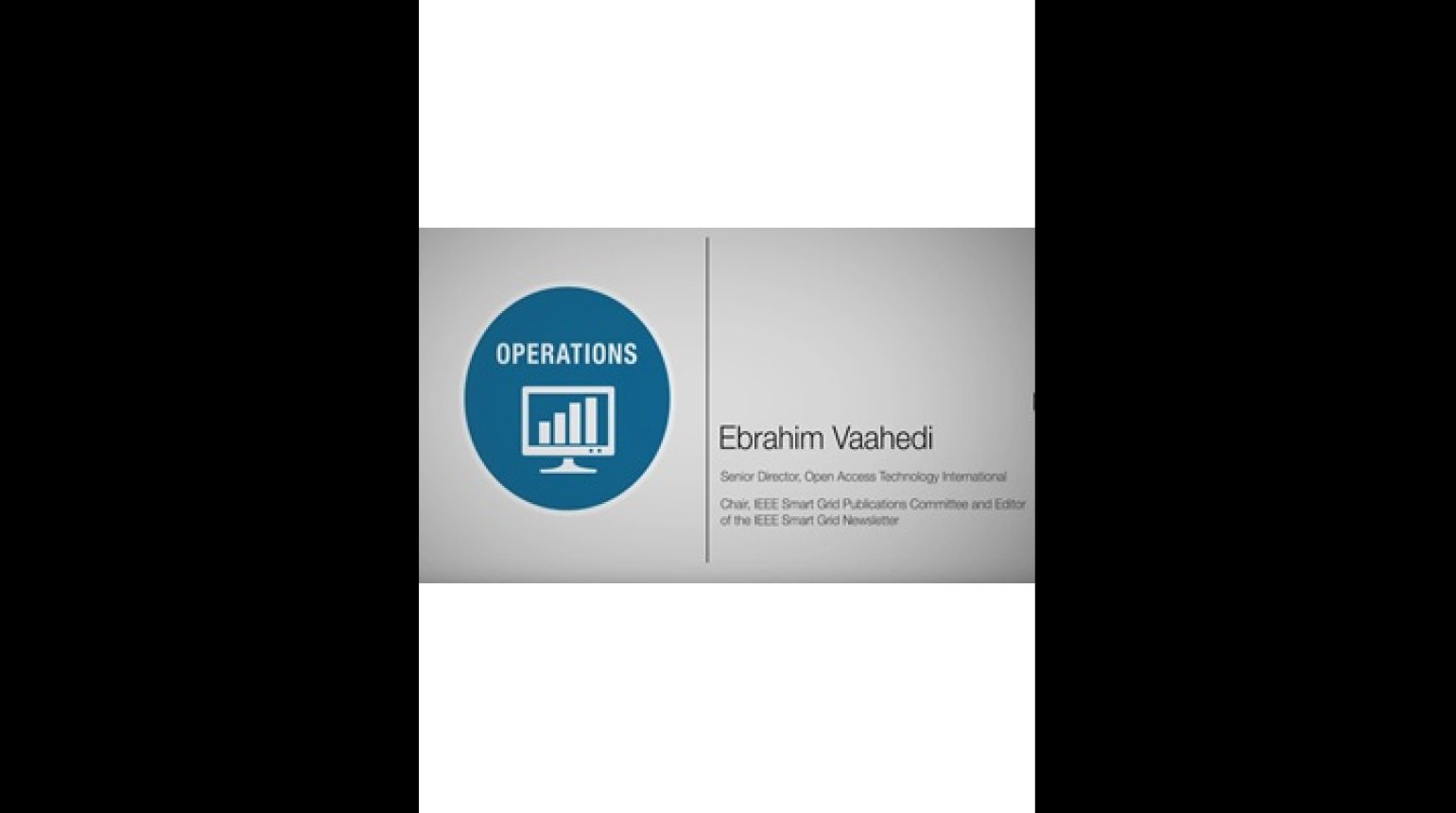 Operations Domain - Ebrahim Vaahedi