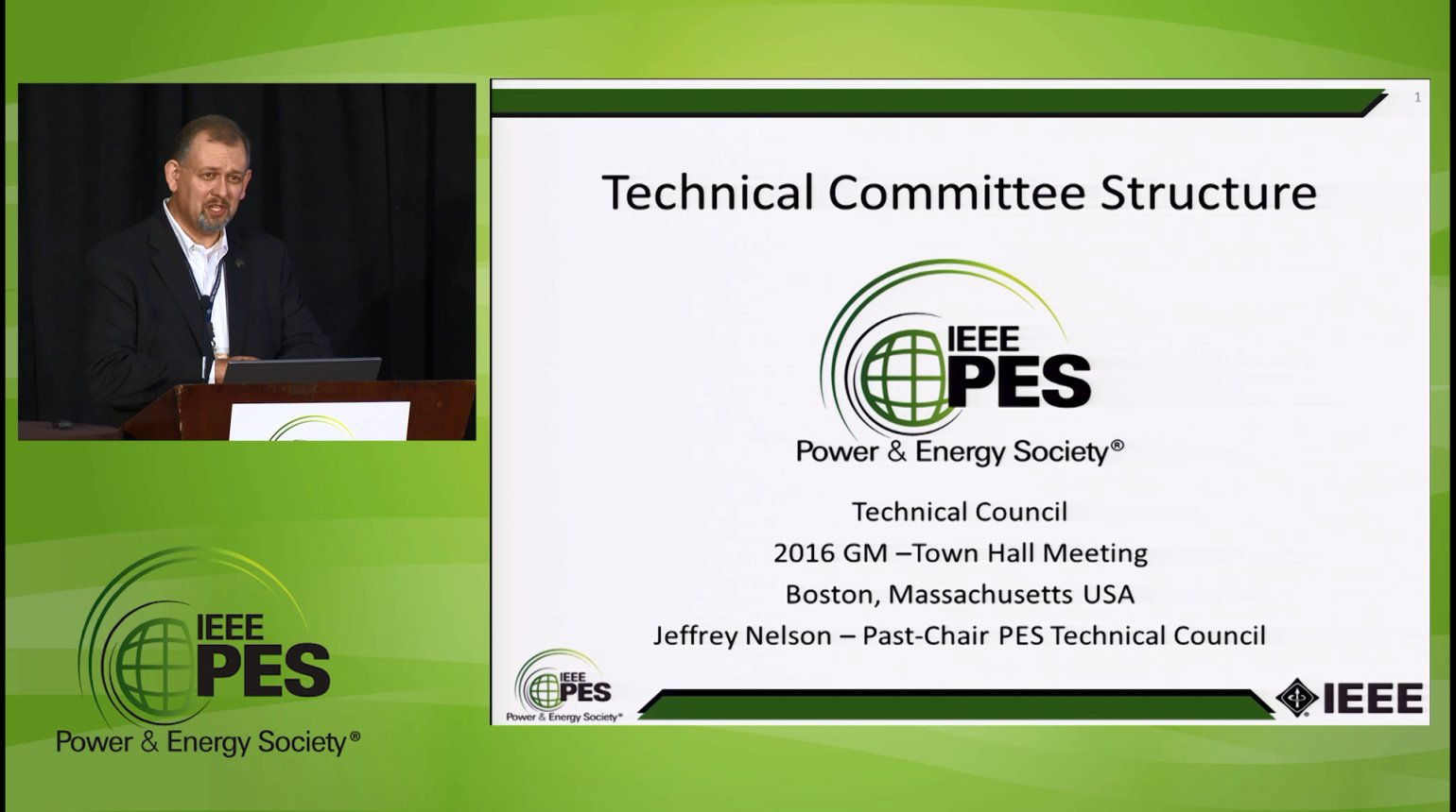 Technical Council Town Hall Meeting (Video)