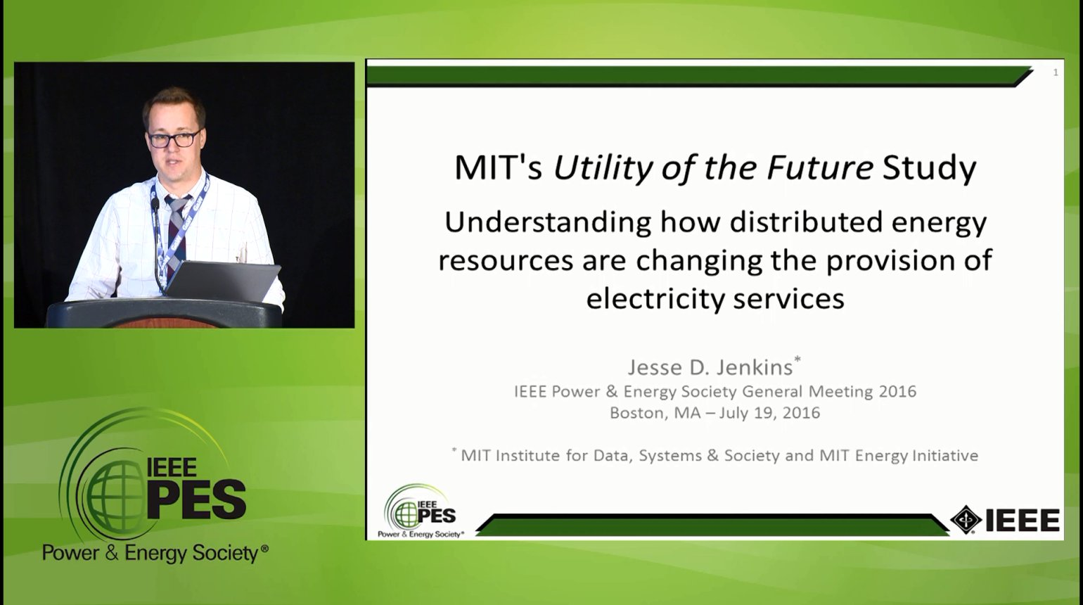 Late Breaking News - MIT's Utility of the Future Study (Video)