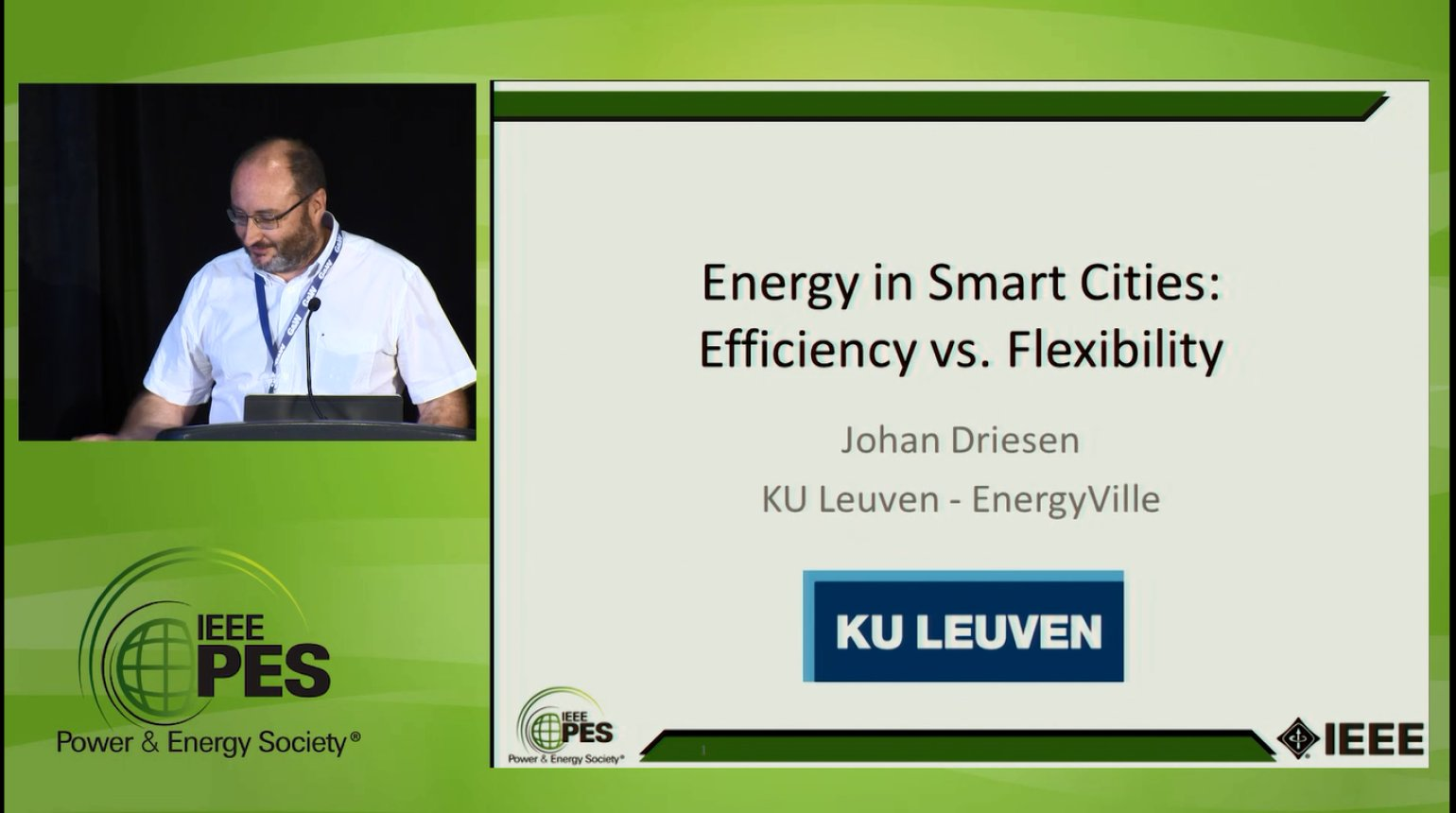 Smart Buildings, Smart Load, Smart Cities - Energy in Smart Cities: Efficiency vs. Flexibility (Video)