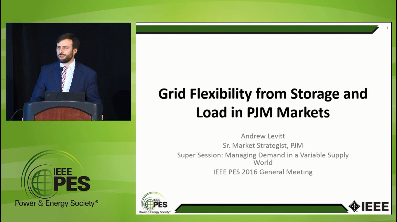 Managing Demand in a Variable Supply World - Grid Flexibility from Storage and Load in PJM Markets (Video)