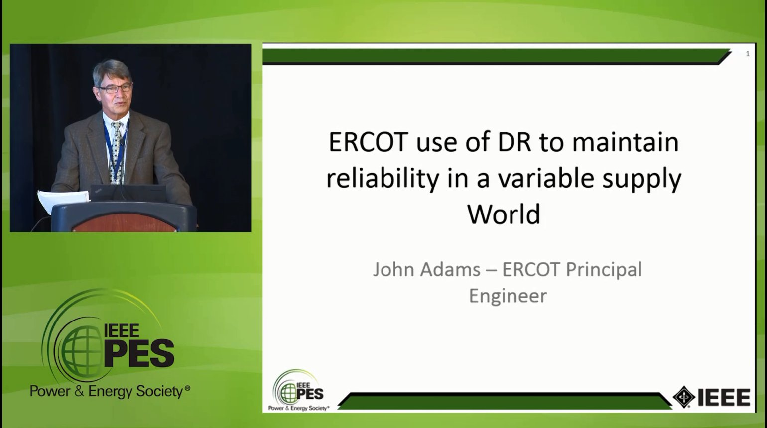Managing Demand in a Variable Supply World - ERCOT use of DR to maintain reliability in a variable supply World (Video)