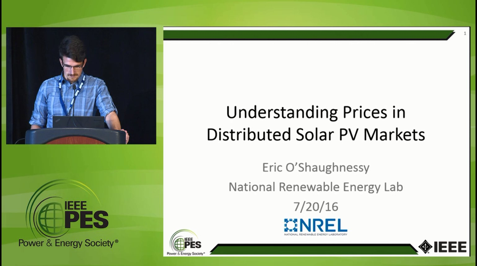 Managing Demand in a Variable Supply World - Understanding Prices in Distributed Solar PV Markets (Video)
