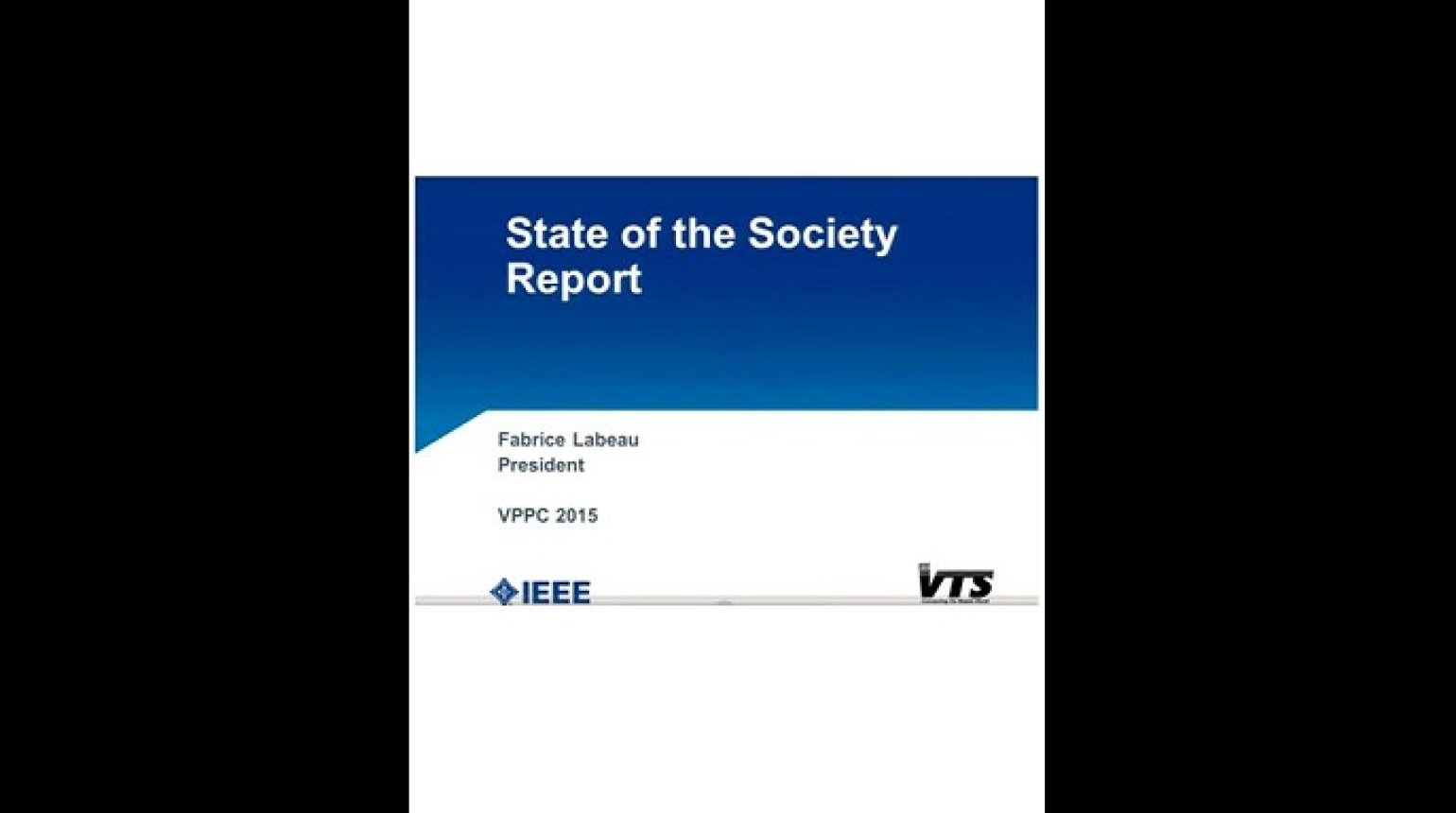 Video - State of the Society Report
