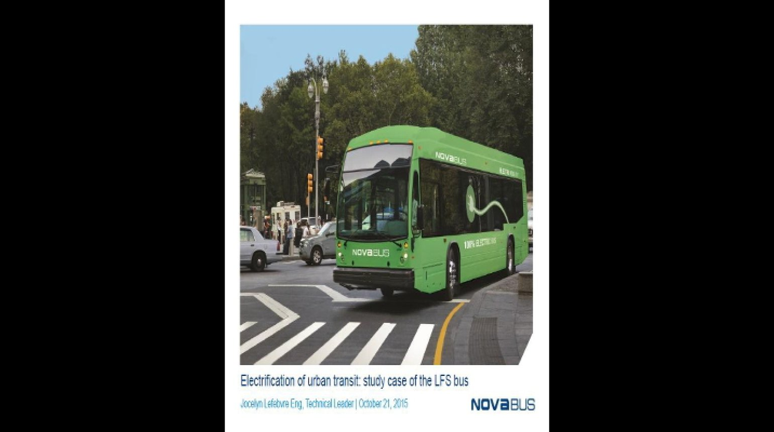 Video - Electrification of Urban Transit: Study Case of the LFS Bus