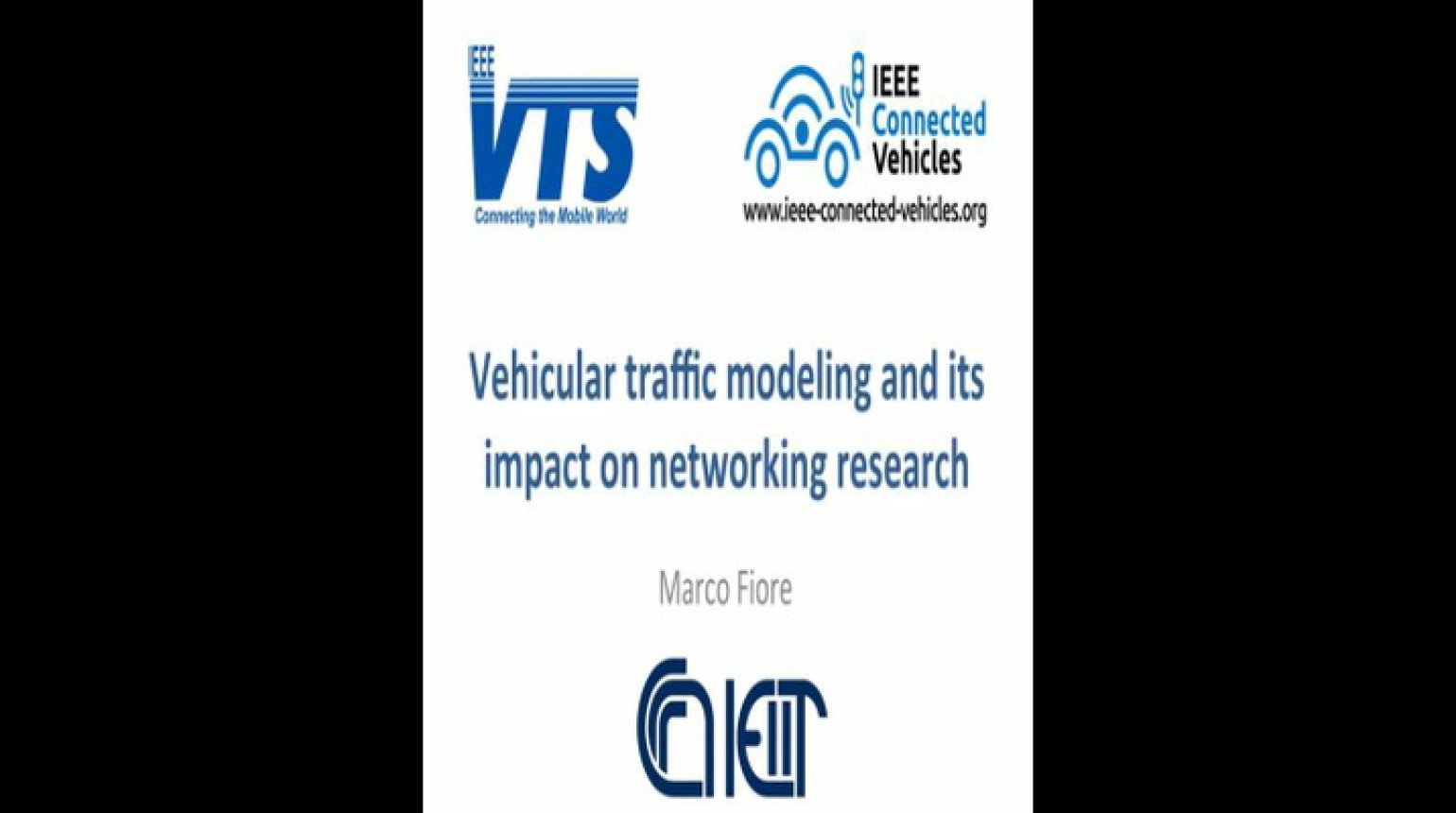 Video - Vehicular Traffic Modeling and its Impact on Networking Research