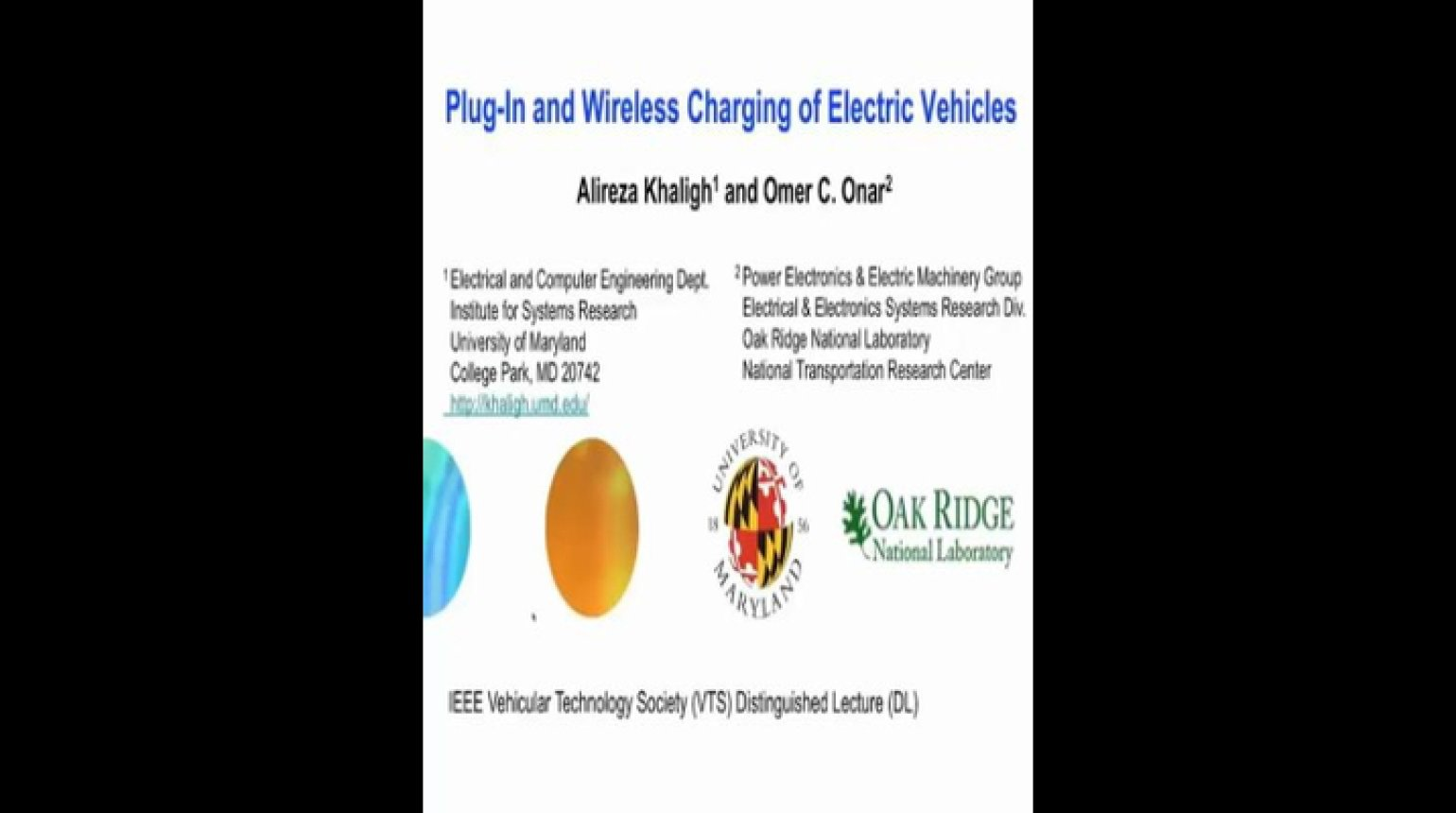 Video - Plug-In and Wireless Charging of Electric Vehicles