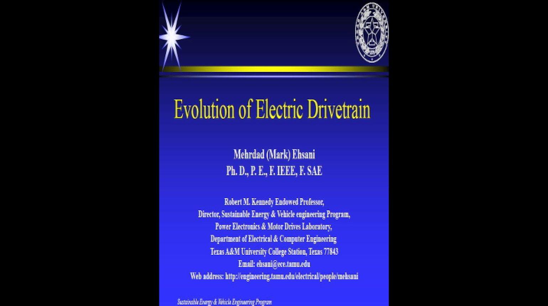 Video - Evolution of Electric Drivetrain