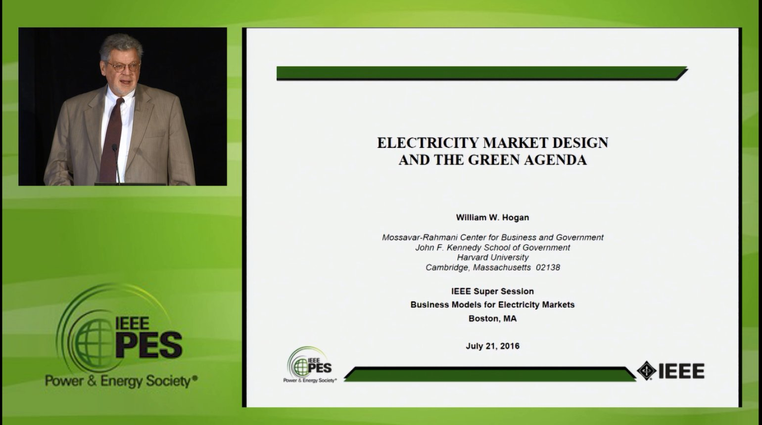 Business Models for Electricity Market - Electricity Market Design and the Green Agenda (Video)