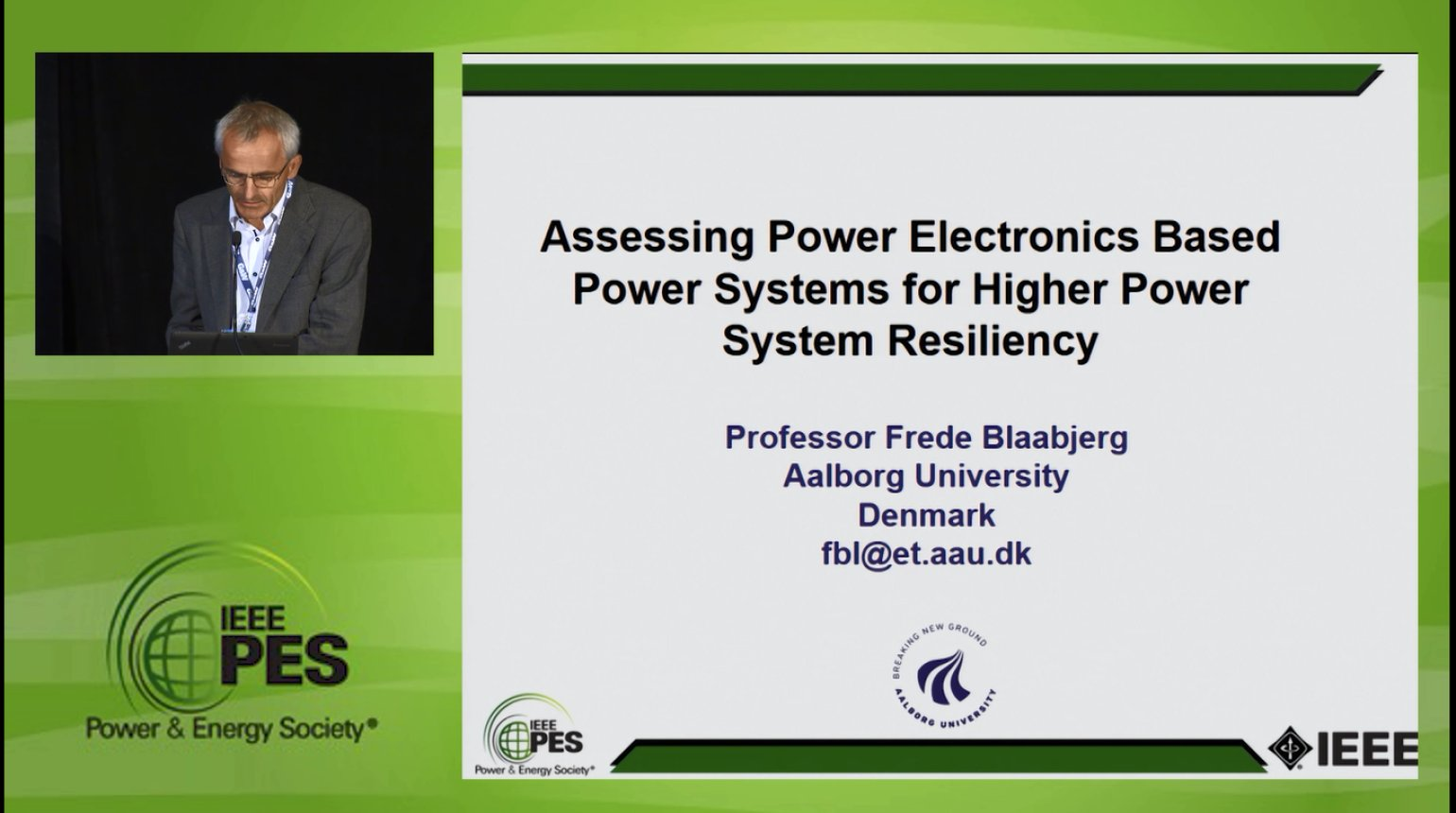 Resiliency in the Power Grid - Assessing Power Electronics Based Power Systems for Higher Power System Resiliency (Video)