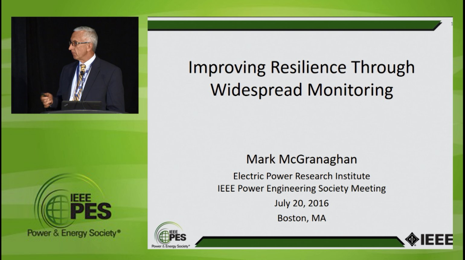 Resiliency in the Power Grid - Improving Resilience Through Widespread Monitoring (Video)