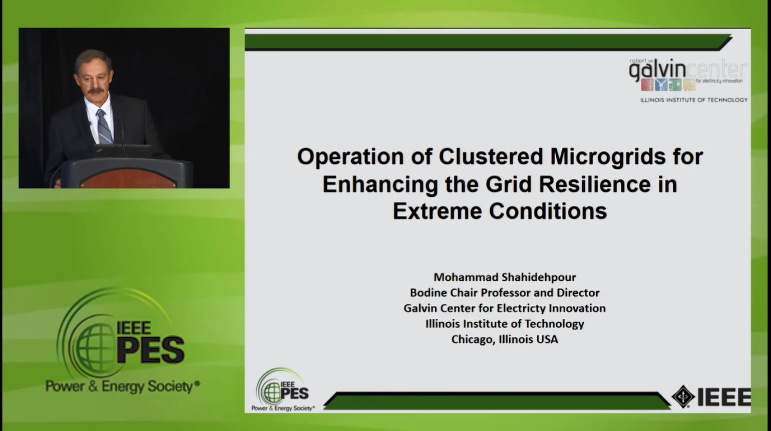 Resiliency in the Power Grid - Operation of Clustered Microgrids for Enhancing the Grid Resilience in Extreme Conditions (Video)