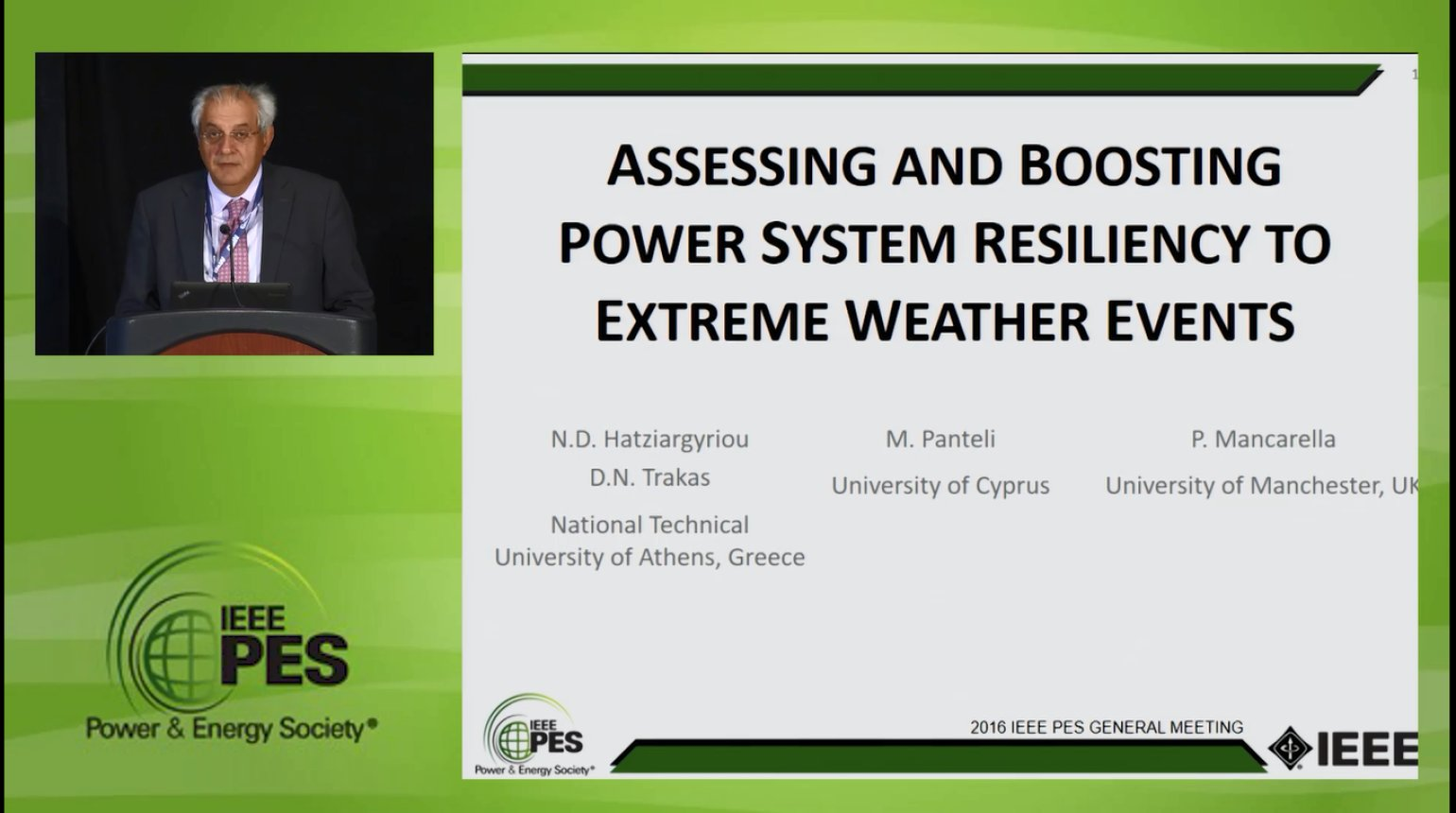 Resiliency in the Power Grid - Assessing and Boosting Power System Resiliency to Extreme Weather Events (Video)