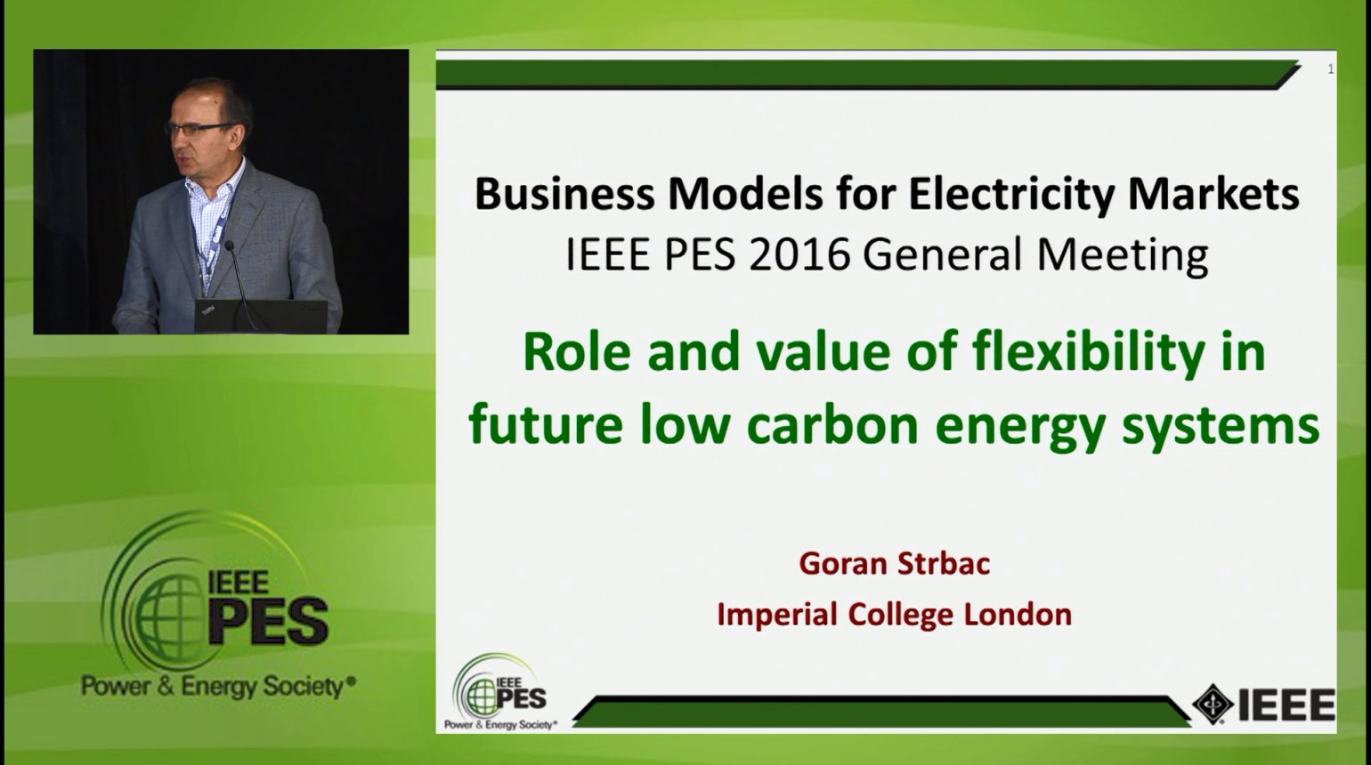 Business Models for Electricity Market - Role and value of flexibility in future low carbon energy systems (Video)