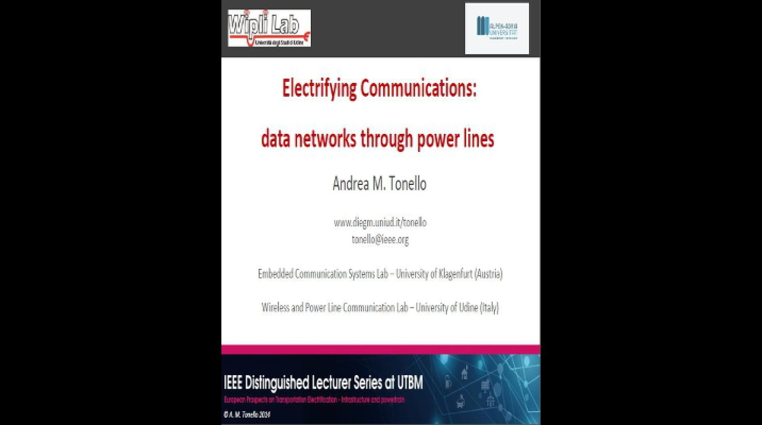 Video - Electrifying Communications: Data Networks Through Power Lines