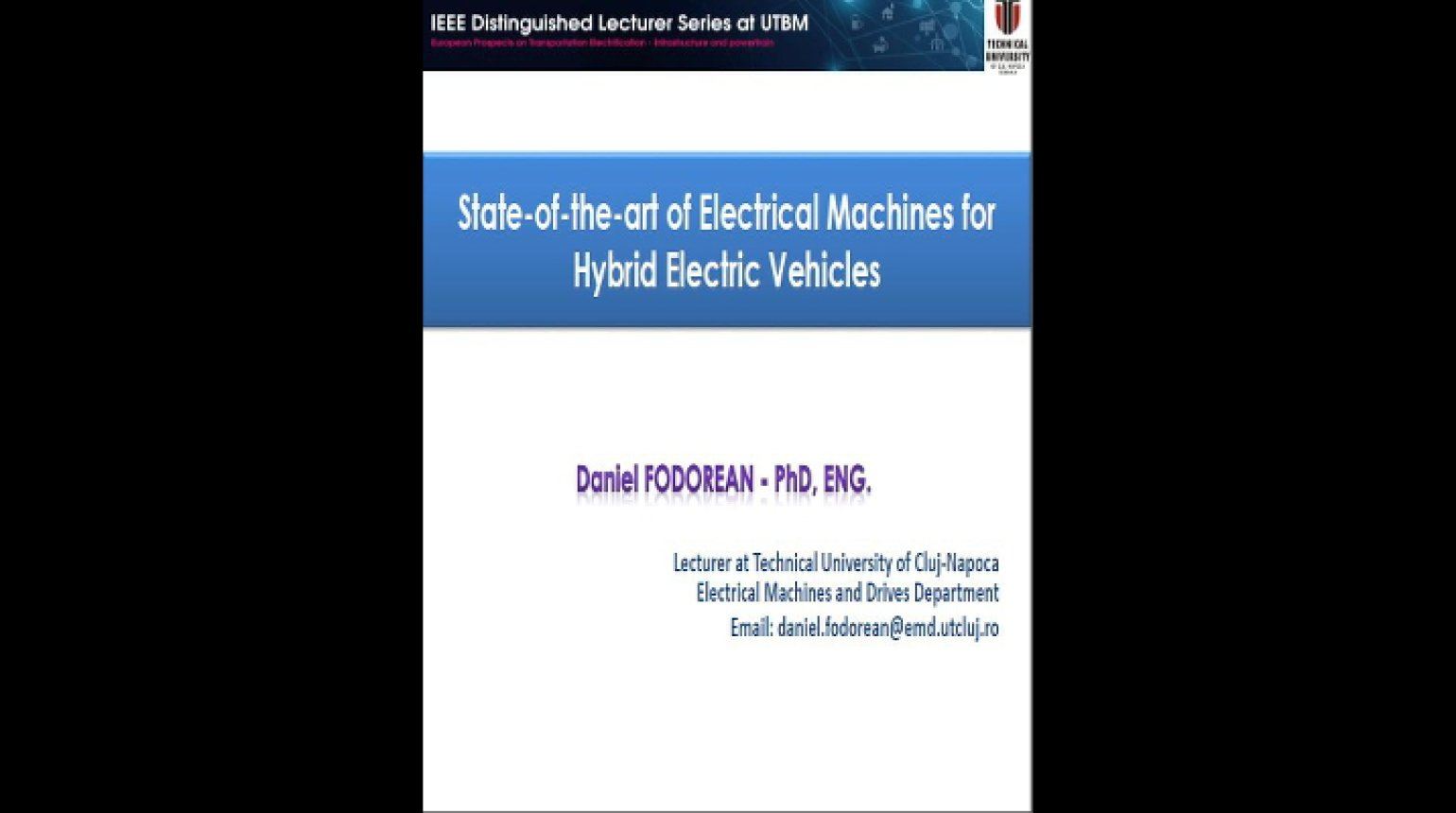 Video - State-of-the-art Electrical Machines for Hybrid Electric Vehicles