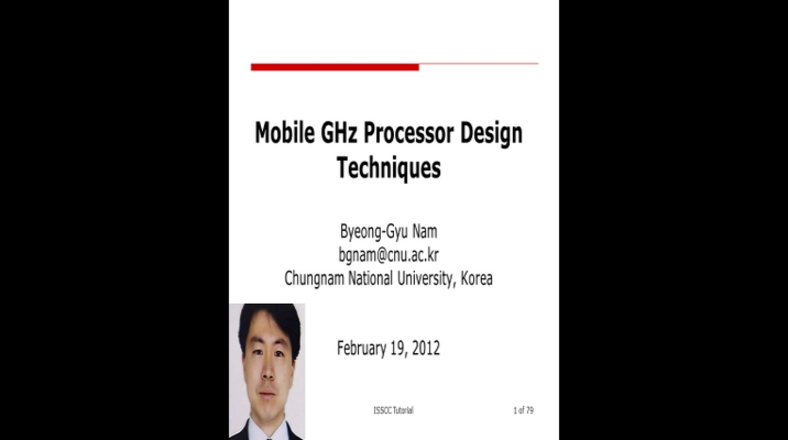 Mobile GHz Processor Design Techniques Video
